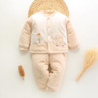 货比迪士尼巴拉巴拉等婴儿棉衣套装冬季新生儿加厚保暖0-3-6个月冬装纯棉1岁宝宝