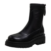 WARORWAR法国新品YG14-18-56冬季韩版粗跟高跟女士靴子弹力靴骑士靴长靴