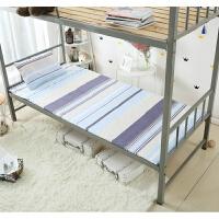 2018091503160701790Cm学生宿舍单人床上下铺保温床垫可折叠水洗2米1.5米 浅蓝色 蓝色海岸