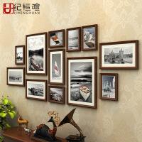 美式复古照片墙相框墙客厅创意组合挂墙简约现代背景墙一面相片框