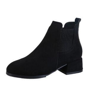 WARORWAR新品YM32-808秋冬欧美低跟女士切尔西靴短靴