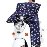 男女连体摩托车防寒防晒罩护膝  防水厚大电瓶  冬季电动车挡风被