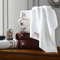 五星级纯棉浴巾三件套酒店男女士加大加厚全棉白色大毛巾方巾