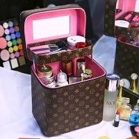 化妆包大容量便携简约韩国手提化妆箱双层洗漱品袋收纳盒男女