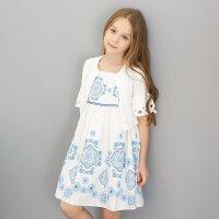【1件2.5折到手价:57.3】米喜迪mecity童装夏装新款女童喇叭袖毛织开衫