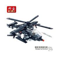 【小颗粒】邦宝创意拼插积木益智玩具3合1战斗机军事隐形飞机8488