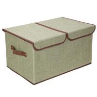 衣服衣物收纳箱子彩麻两格内衣收纳盒储物箱内裤袜子整理箱 双盖