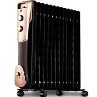 (支持礼品卡支付)【美的官方旗舰店】Midea 美的取暖器NY2011-16JW油汀电暖器家用电暖气11片 黑色