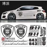 汽车贴纸变形金刚车身贴整车 911原版个性博派狂派复杂版贴花