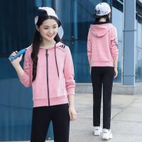 初中生运动套装女春秋休闲少女装2018新款中学生韩版女套装两件套