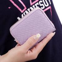 短款钱包女士韩版拉链包可爱零钱包硬币包拉链包手拿包包 紫色