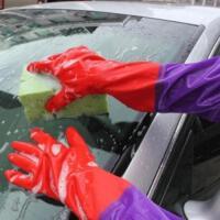 防水加厚保暖汽车用冬季擦车洗车手套衣服毛绒冬天专用加绒刷男女