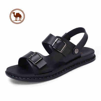 骆驼牌男鞋 夏季男士休闲露趾凉鞋透气防滑沙滩鞋男