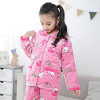 冬季儿童睡衣夹棉 女童男童小孩宝宝加厚款珊瑚绒家居服套装