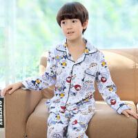 儿童睡衣长袖春秋款纯棉男孩卡通男童全棉中大童小孩子家居服套装