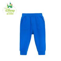迪士尼Disney裤子纯棉婴儿长裤可开裆外出裤春秋款163K732