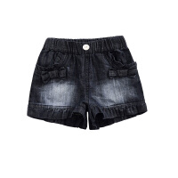女童短裤儿童牛仔裤女孩宝宝花边短裤新款童装
