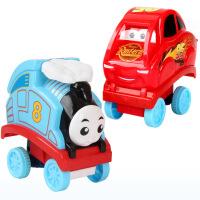 抖音翻滚托马斯小火车玩具 一键按压特技翻滚儿童益智社会人玩具