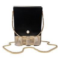 盒子包小方包女新款斜挎包晚宴链条手机包手提迷你小包手拎包 黑色