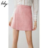 【此商品参加一口价,预估到手价159元】Lily春新款女装商务不对称A字修身短裙半身裙119110C6251
