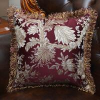 沙发靠垫抱枕套汽车靠垫腰枕靠枕办公室抱枕欧式贡缎提花