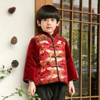 男童唐装冬儿童汉服童装中国风宝宝周岁礼服男新年装抓周衣服 云龙