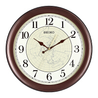 seiko日本精工时钟 欧式客厅卧室超静音夜光石英钟挂钟QXA616