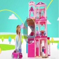 ?芭比娃娃梦想豪宅女孩过家家洋房子迷你芭比甜甜屋公主玩具套装? 15厘米-30厘米