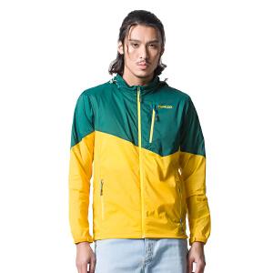 AIRTEX亚特防晒透气抗紫外线登山运动跑步健身男款弹力户外皮肤风衣