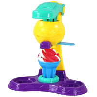 儿童橡皮泥冰淇淋机 手工制作冰激凌模具套装宝宝DIY玩具 5大盒彩泥+冰淇淋机+模具