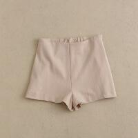 女短裤20春 高腰阔腿裤A字显瘦简约 针织休闲裤25