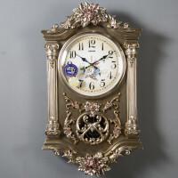 石英钟表时钟复古挂钟客厅欧式个性创意时尚大气豪华装饰壁钟静音 20英寸