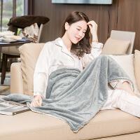 电热护膝毯暖身毯电暖毯小电热毯办公室加热暖脚垫铺盖两用毯