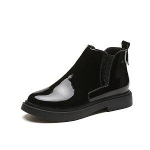 WARORWAR新品YM151-S738秋冬欧美平底舒适女士切尔西靴短靴