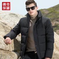 传奇保罗棉衣男2018冬季新款男士短款加厚立领棉袄休闲冬装外套男M18D005