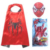 万圣节儿童超凡2蜘蛛侠手套手腕发射器玩具蜘蛛侠头套面罩SPIDER