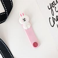 数据线耳机缠绕线苹果手机线卡通超萌男女款收纳线可爱理线器保护 绕线器 (粉色-兔子)