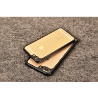 iphone6 plus边框摄像头苹果8X保护套硅胶手机壳透明苹果7p防摔5 苹果7/8通用 纯黑色