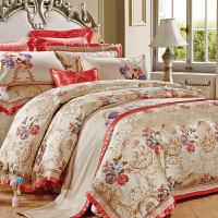 伊迪梦家纺 欧美式豪华样板房别墅房床上用品多件套 高档婚庆床单床罩床盖式四六八十件套GZ208