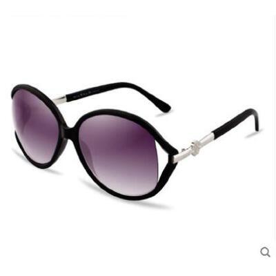 精美圆形眼镜户外女士太阳眼镜大框黑白复古墨镜 时尚潮太阳镜 品质保证,支持货到付款 ,售后无忧