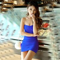 欧美风夜店女装性感裹胸紧身连衣裙修身包臀露肩显瘦短款抹胸裙子