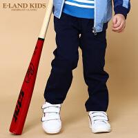 【2件3折 折后价:89.4元】Eland kids衣恋童装mini秋季男童纯色经典休闲长裤EKTC74903S