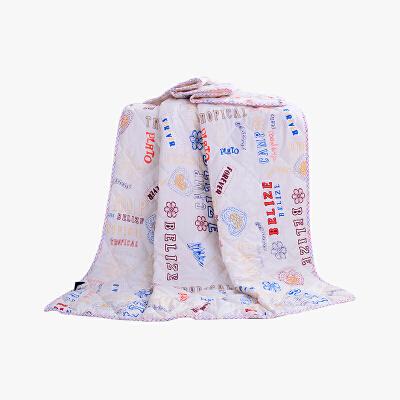 当当优品家纺 可水洗印花夏凉被 110x150单人空调被 自由情怀咖当当自营 柔软透气 水洗机洗不变形