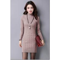 加绒加厚打底衫女长袖秋冬2018新款韩版中长款保暖羊毛衫毛衣