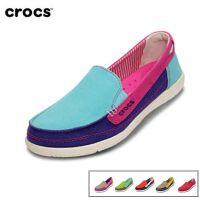 Crocs卡骆驰户外女鞋夏季女士沃尔卢帆布鞋透气平底休闲鞋|14391 女士沃尔卢帆布便鞋
