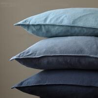 071609243077245x45 60x60 30x45cm 纯色棉麻 沙发抱枕套靠垫套腰枕 9色可选