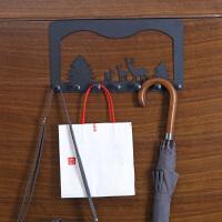 卫生间免打孔门后挂钩壁挂粘胶挂衣架 创意强力承重无痕门上粘钩