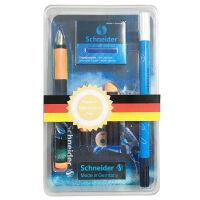 德国Schneider施耐德运动(钢笔+宝珠笔头)套装 铱金笔 墨水笔 双笔头 足球球迷款