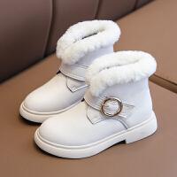 【活动价:126】儿童短靴子女加绒女童公主真皮软底皮靴2019冬季新款时尚保暖棉鞋