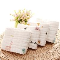 六层婴儿纱布毛巾纯棉长方形新生儿洗脸儿童宝宝洗澡巾超柔软吸水